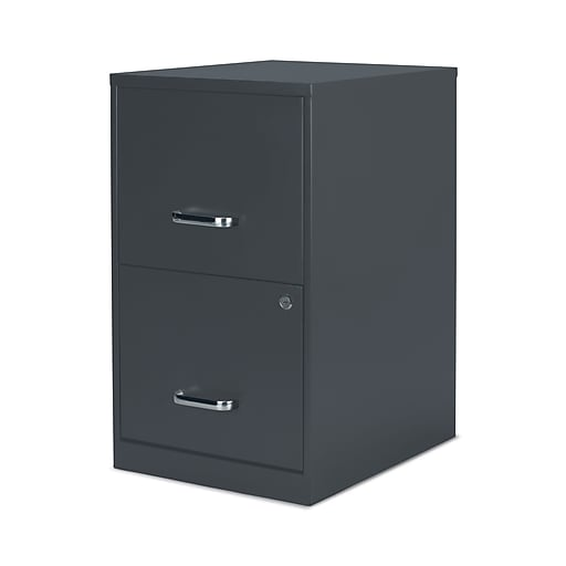 Staples 2 Drawer Vertical File Cabinet Charcoal Letter 18 D 52143