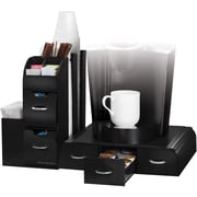 Mind Reader Combine 2 Piece Coffee and Accessory Station, Black (CMB01-BLK)