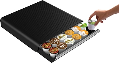 Mind Reader Hero Coffee Pod Storage Drawer For 36 K-Cup, Black (TRY02-BLK)