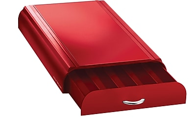 Mind Reader Anchor Coffee Pod Storage Drawer For 50 Nespresso Capsules, Red (NEST3PC-RED)