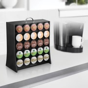 Mind Reader The Wall Coffee Pod Display Rack For 50 K-Cup, Black (RAC3PC-BLK)
