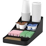 Mind Reader Trove 7 Compartment Coffee Condiment Organizer, Black (COMP7-BLK)