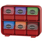 Mind Reader 'Clutch' 6 drawer Tea Bag Holder, Red (STBORG-RED)