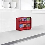 Mind Reader 'Clutch' 6 drawer Tea Bag Holder, Red (STBORG-RED)