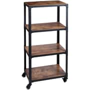 Mind Reader 'Charm' 4 Tier Wood/Metal Utility Cart, Black (4TWDMTCART-BLK)