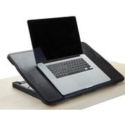 Mind Reader Adjustable Foldable Laptop Table, Black, (FLTABLE-BLK)
