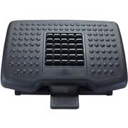 Mind Reader 'Comfy' Adjustable Height Foot Rest with Rollers for Massage, Black, (FTROLL-BLK)