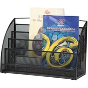 Mind Reader 4 Pocket Magazine Rack, Black Metal Mesh (MAGRACKSM-BLK)