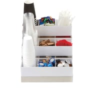 Mind Reader, 9 Compartment Condiment Organizer with Acrylic Drawers and Steel Base , White (COMP9ACR-WHT)