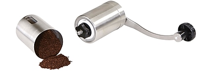 Mind Reader Manual Premium Stainless Steel Coffee Grinder with Coffee & Spice Mill, Silver (METGRIND-SIL)