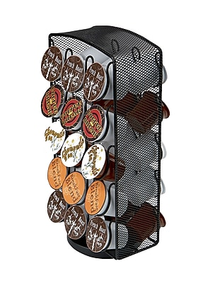Mind Reader Metal Mesh Coffee Pod Carousel, Holds 30, Black (CRSMESH-BLK)