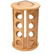 Mind Reader Bamboo Coffee Pod Carousel 24 Capacity , Brown (CRS-BRN)