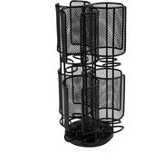 Mind Reader 2 Tier Mesh Spinning Tassimo Storage Rack, Black (TASSMESH2T-BLK)