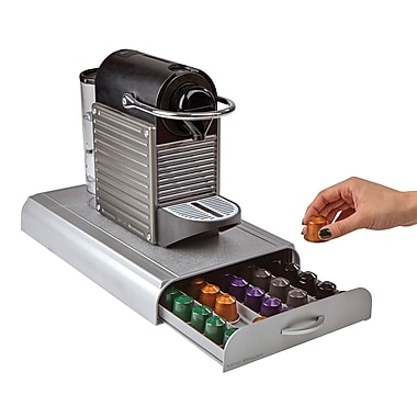 Mind Reader 'Anchor' Nespresso Capsule Storage Drawer 50 Capacity, Silver (NESTRY6PC-SIL)