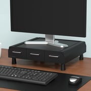 Mind Reader ' Perch' PC, Laptop, IMAC Monitor Stand & Desk Organizer, Black (MONSTA3D-BLK)