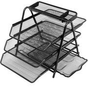 Mind Reader 'Census' Metal Mesh 3 Tier File Tray, Black (3TFILE-BLK)