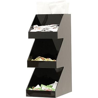 Mind Reader 'Fancy' Black Acrylic 3 Tier Condiment Organizer, Black (3TCORG-BLK)