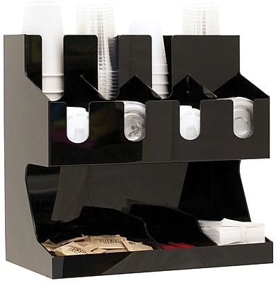 Mind Reader 'Fancy' Black Acrylic Jumbo Condiment Organizer, Black (JUMBOCORG-BLK)