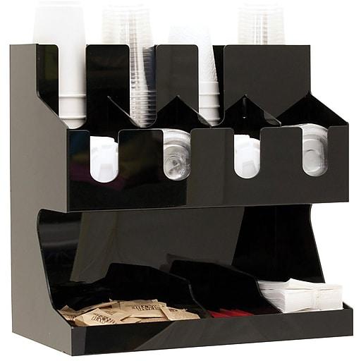 Mind Reader 'Fancy' Black Acrylic Jumbo Condiment Organizer, Black (JUMBOCORG-BLK)
