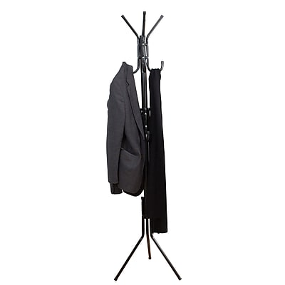 Mind Reader 'Hang' 11 Hook Metal Coat, Jacket, Purse, Scarf Rack, Black, (COATRACK11-BLK)