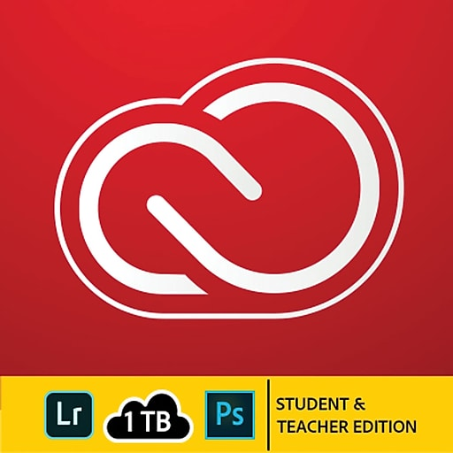 Adobe Creative Cloud Photography Plan Student & Teacher Edition for Windows/Mac, 1 TB of Storage (1 User) [Download]