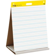 "Post-it® Super Sticky Table-top Easel Pad, 20"" x 23"", White with Faint Blue Lines (563PRL)"