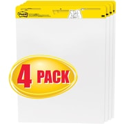 "Post-it® Easel Pad, 25"" x 30"", White, Unruled, 4/Pack, (559-VAD-4PK)"