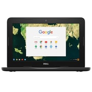 "Dell Chromebook 11.6"" LCD, Intel Celeron N3060, 4 GB, 16 GB SSD, 1366 x 768, Black"