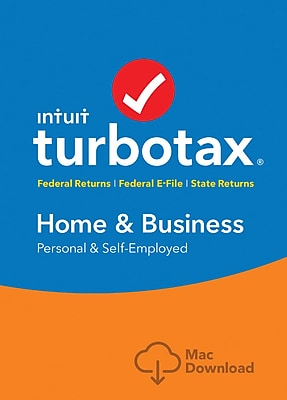 TurboTax Home & Bus Fed+Efile+State 2017 for Mac (1 User) [Download]