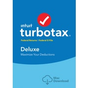TurboTax Deluxe Fed + Efile 2017 for Mac (1 User) [Download]