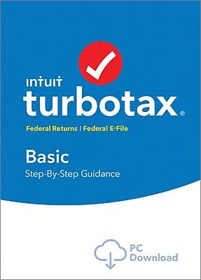 TurboTax Basic Fed + Efile 2017 for Windows (1 User) [Download]