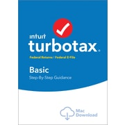 TurboTax Basic Fed + Efile 2017 for Mac (1 User) [Download]