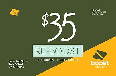 Boost Mobile Prepaid Airtime Card $35