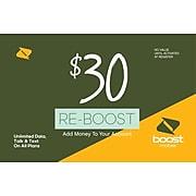 Boost Mobile Prepaid Airtime Card $30