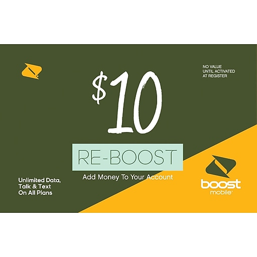 Boost Mobile Prepaid Airtime Card $10