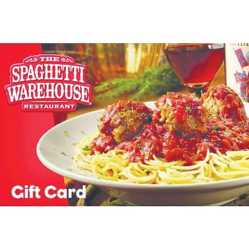 Spaghetti Warehouse Gift Card $50