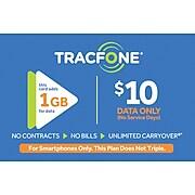 TracFone Data Card Prepaid Airtime Card $10