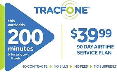 TracFone 200 Minutes Prepaid Airtime Card $39.99