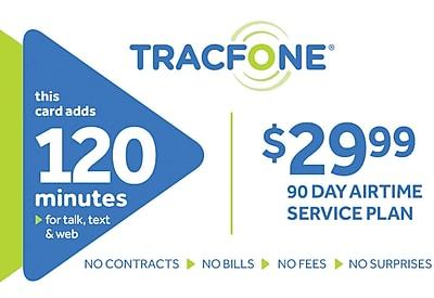 TracFone 120 Minutes Prepaid Airtime Card $29.99