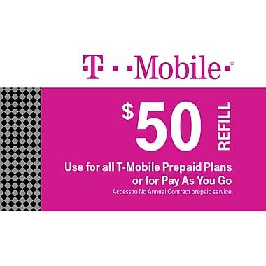 T-Mobile Prepaid Airtime Card $50