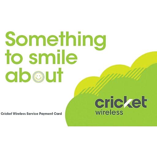 Cricket Wireless Refill Prepaid Airtime Card $40