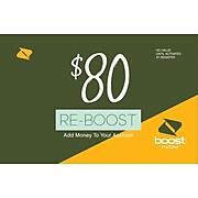 Boost Mobile Prepaid Airtime Card $80