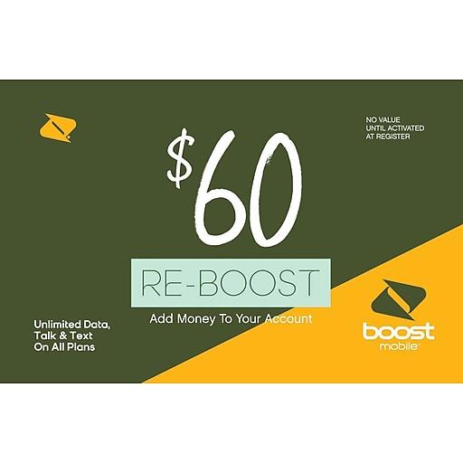Boost Mobile Prepaid Airtime Card $60