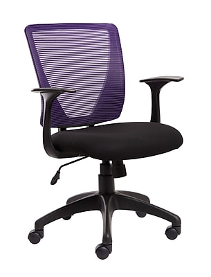 Staples® Vexa Mesh Chair, Purple