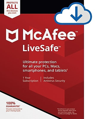 McAfee LiveSafe Device Attach for Windows/Mac (1-10 Users) [Download]