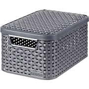 Small Style Box with Lid, Dark Gray