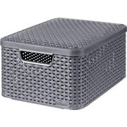 Medium Style Box with Lid, Dark Gray
