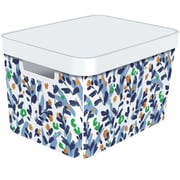 Infinity 17L Box with Lid, White Floral