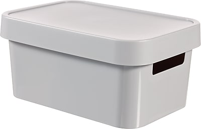 Infinity 4.5L Box with Lid, Solid Gray 2122327