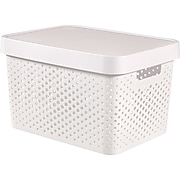 Infinity 17L Box with Lid, Perforated White